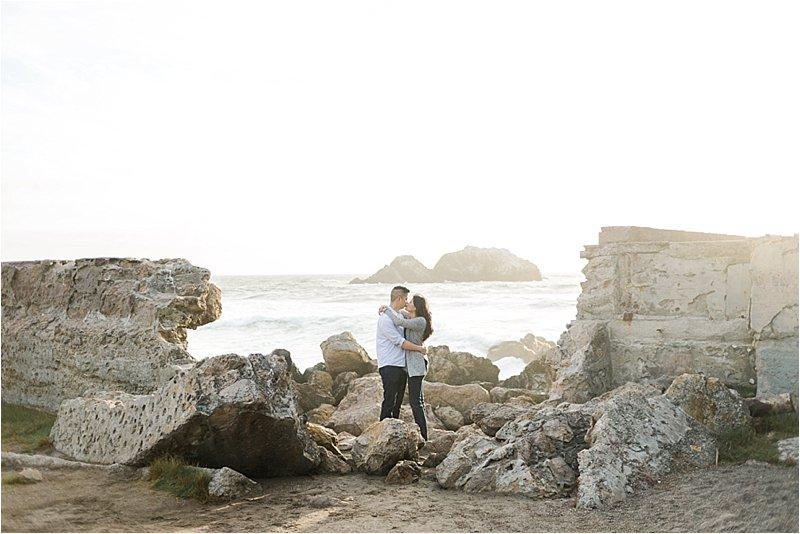 San Francisco Beach Engagement Photos