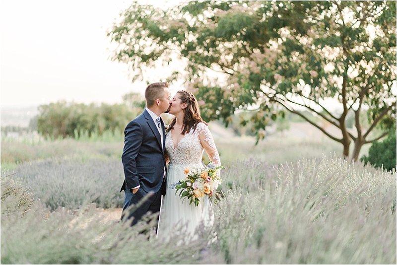 Lavender Field Wedding Photo