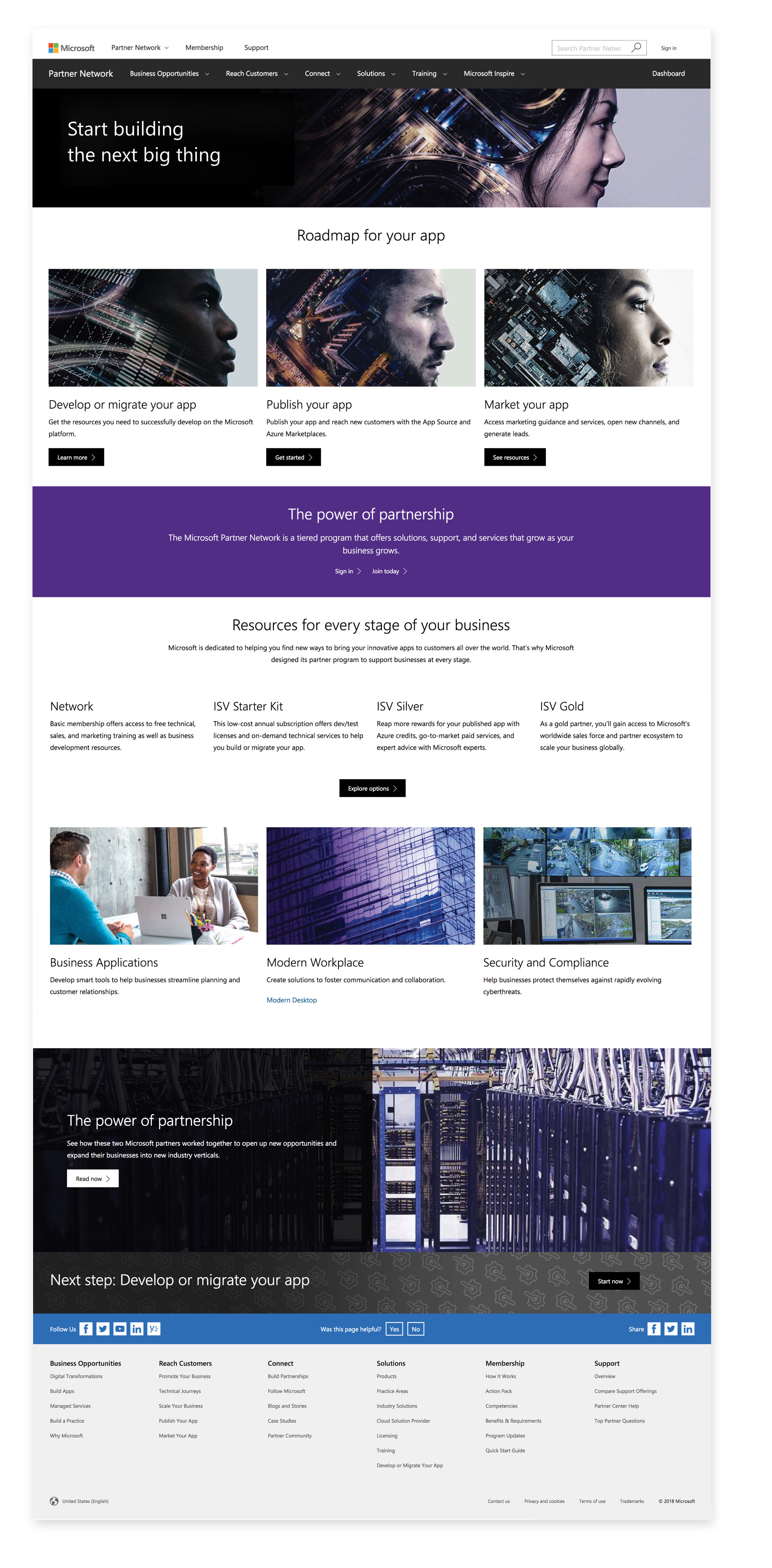 Microsoft Partner Network new site - Microsoft needed help transforming a fragmented user experience on the Microsoft Partners portal into a cohesive and streamlined experience that could be personalized to the needs of each partner and change the visuals throughout the whole site.