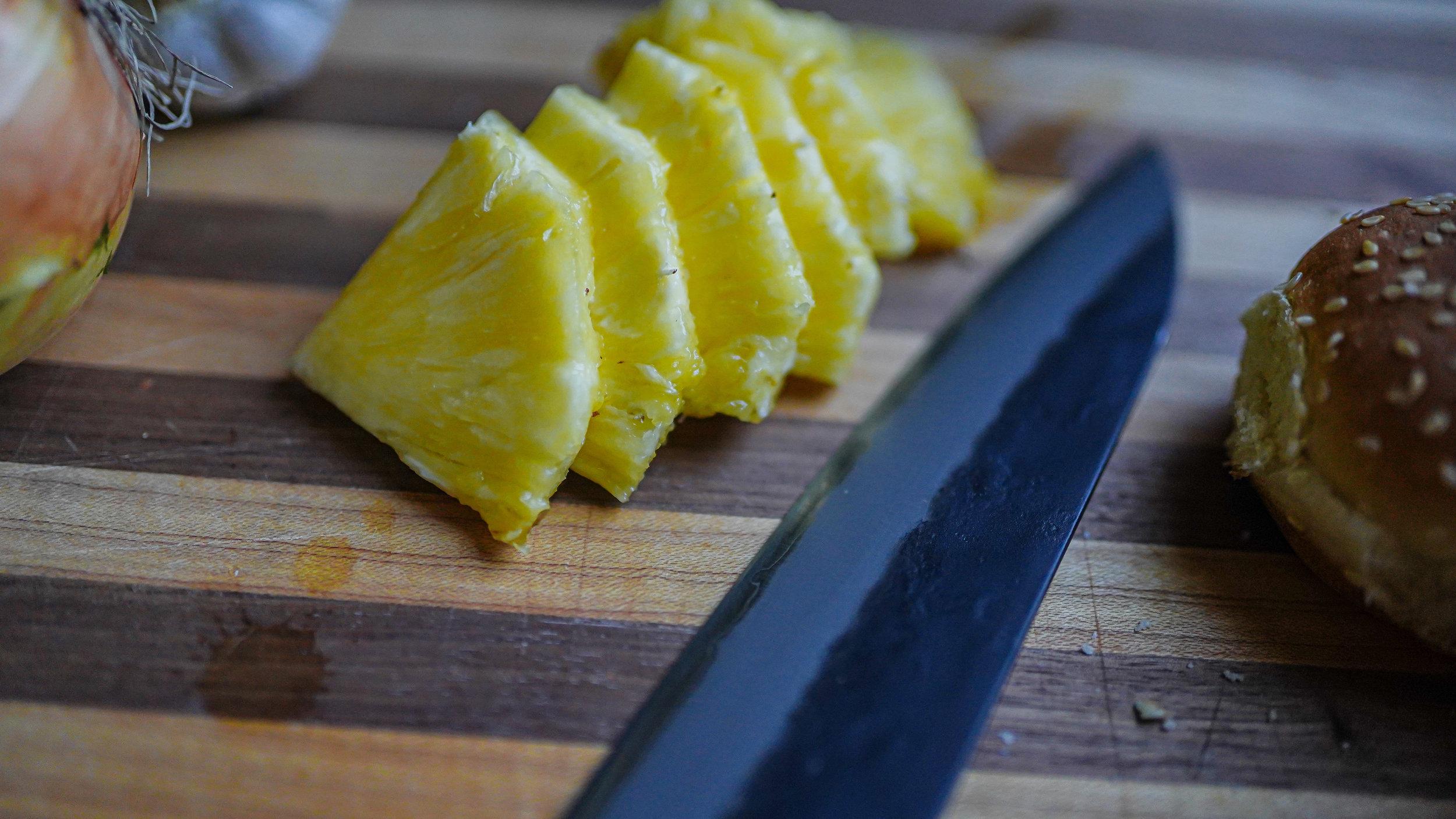 Happy Pineapple Triangles