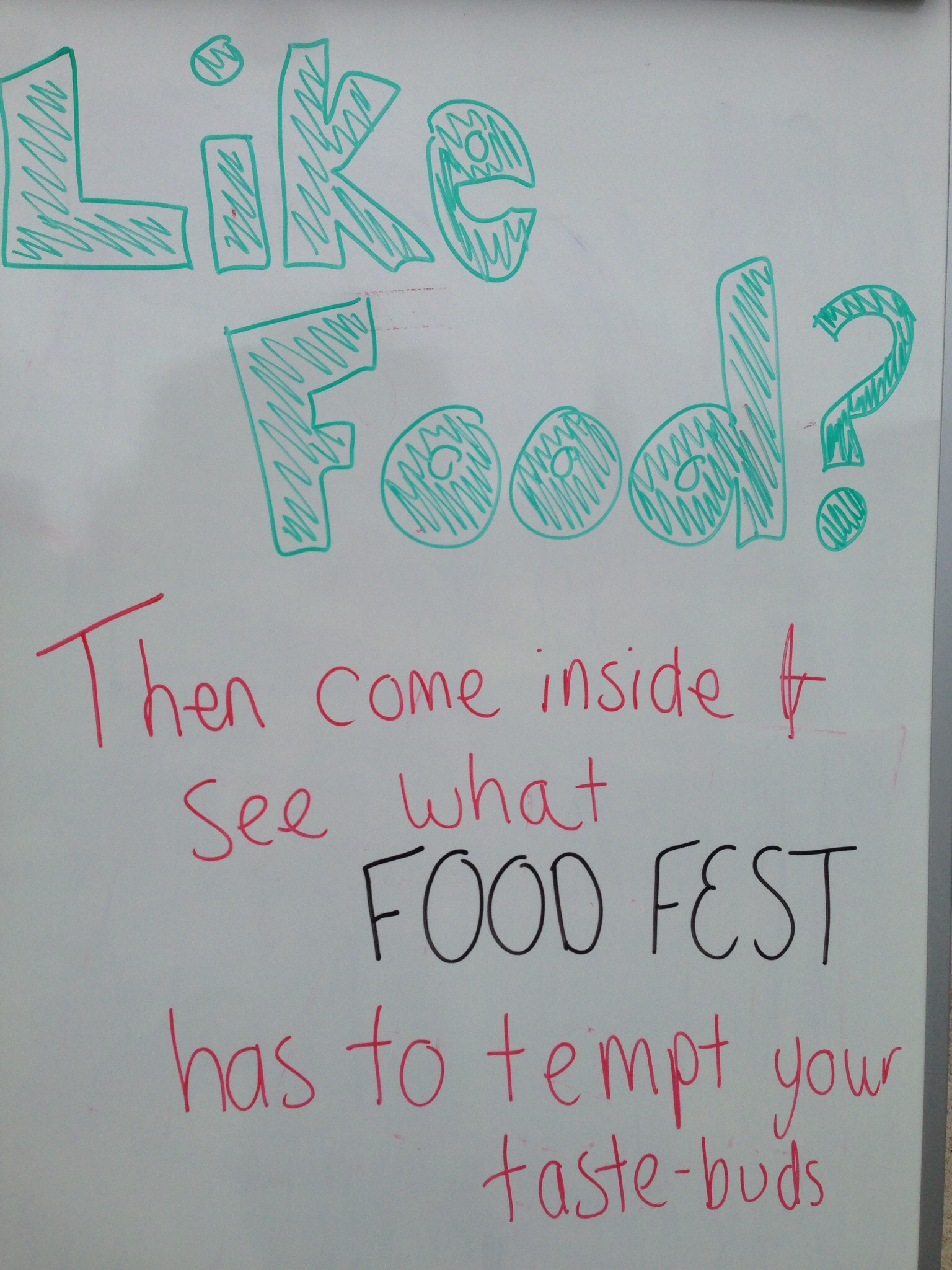 Chester Students Food Fest in the Small Hall!