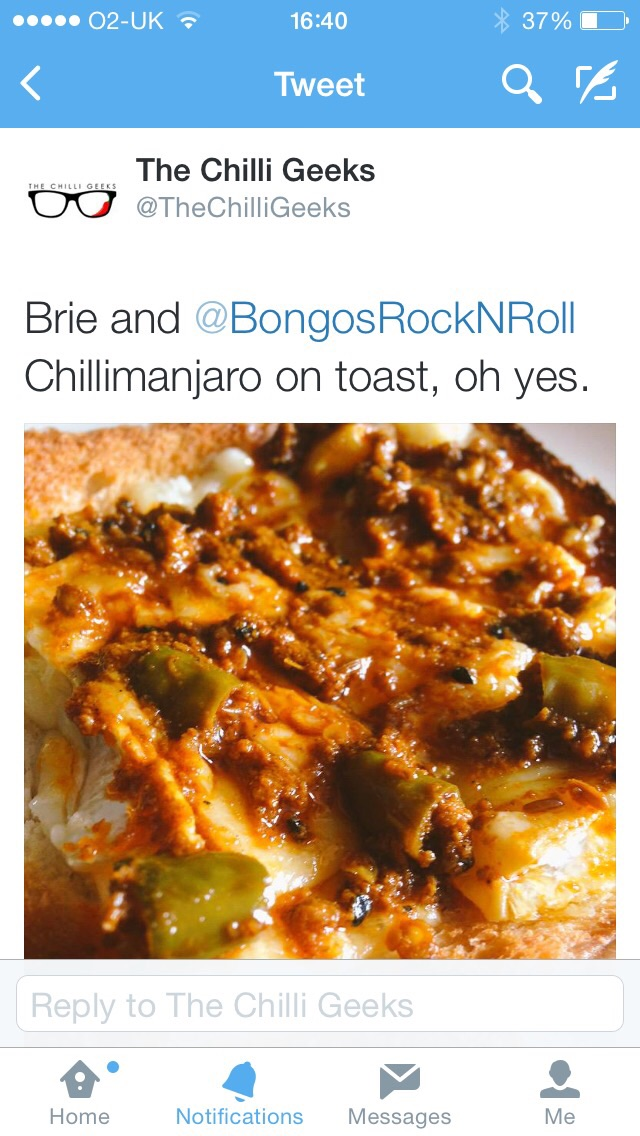 Another great mention by the Chilli Geeks - still loving the #Chillimanjaro! 24th May