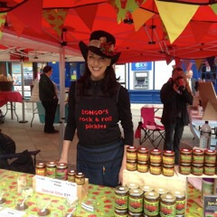 Debs on the stand- if you can't find us look for the hat!