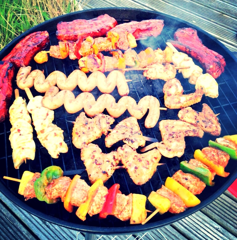 Caveman diet anyone? The food was incredible! Hawaiian Pork Kebabs, Chilli wings, ribs- all with a healthy dose of Bongo's Rock & Roll Pickles!