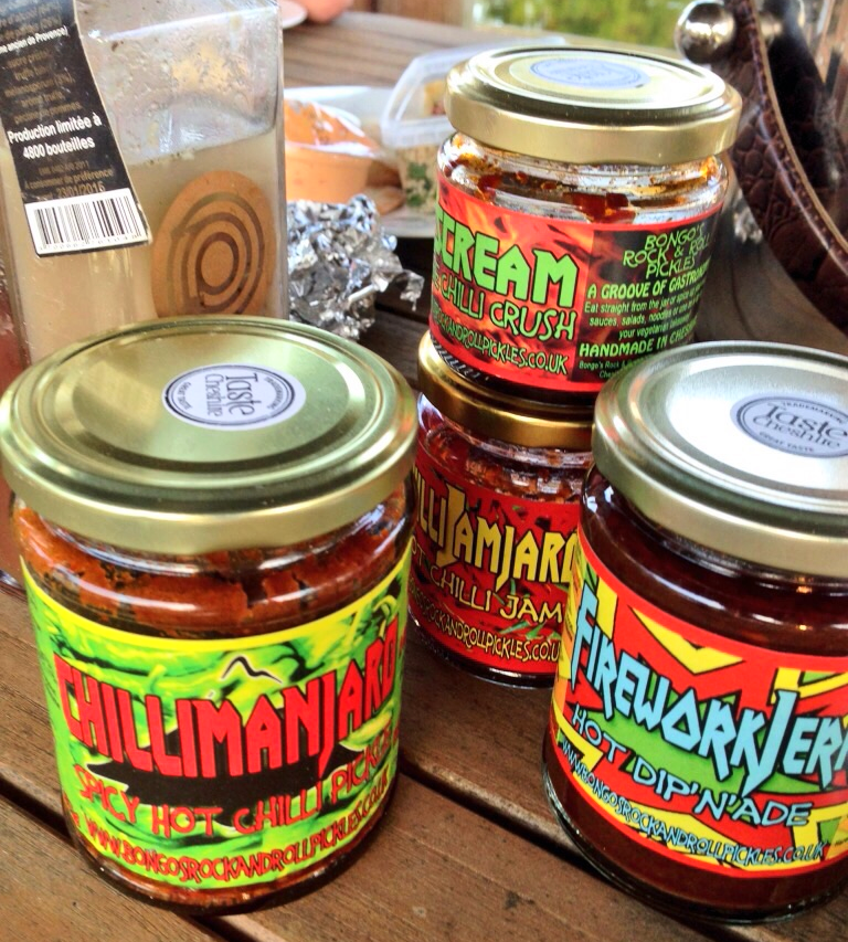 Naturally Bongo's Rock & Roll Pickles were in prime position - what's a BBQ without them??