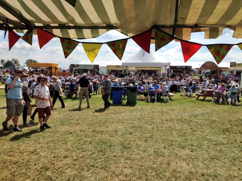 View from our stall - topping up our tans!