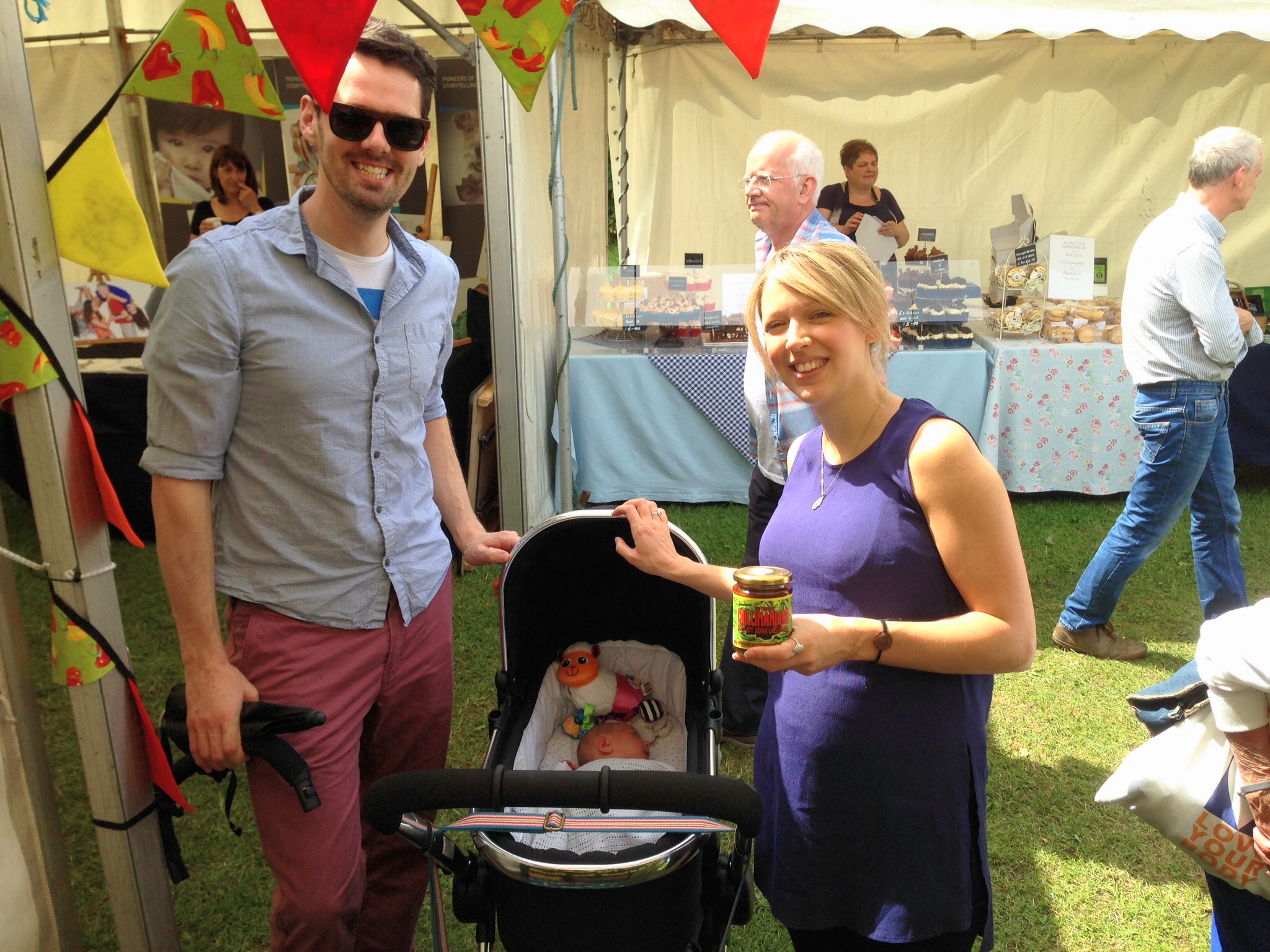 Will, Clare and baby George Griffiths