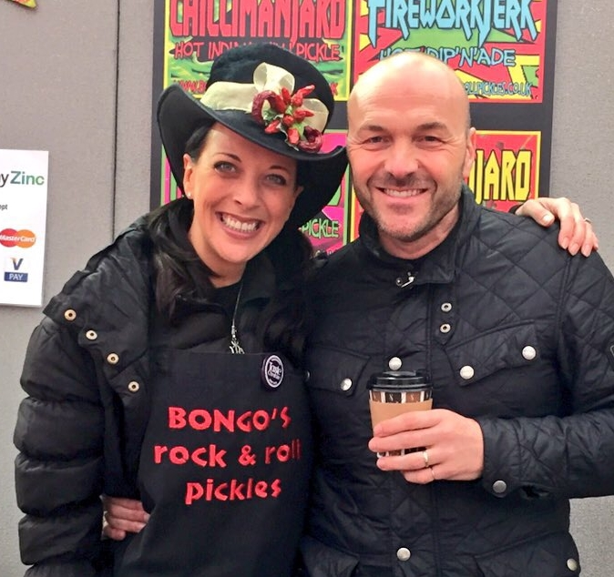 Simon Rimmer with Bongo's rock & Roll Pickles