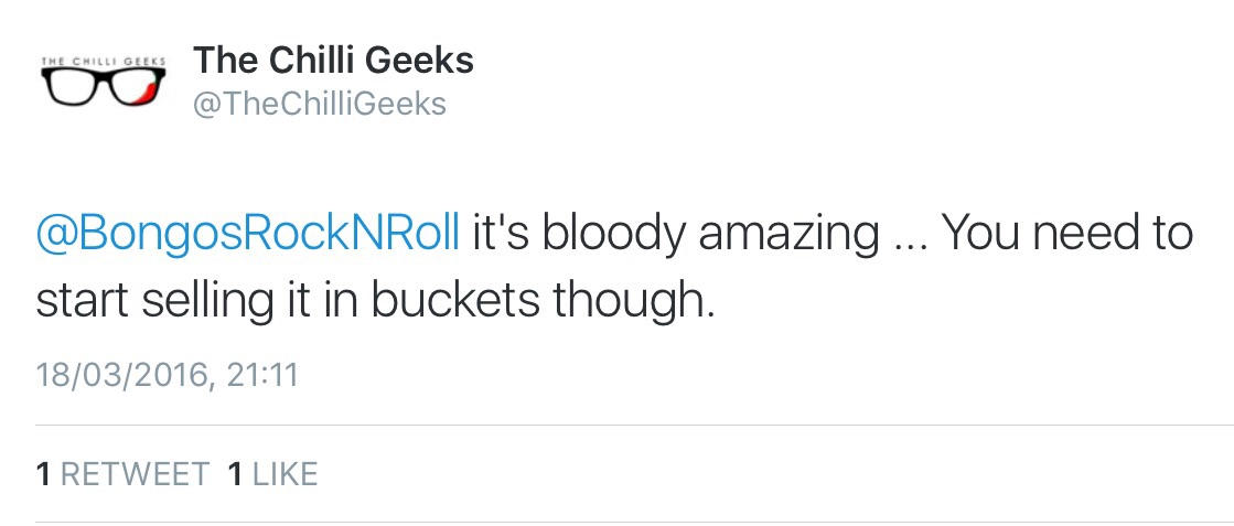 We're so gonna quote you Chilli Geeks!