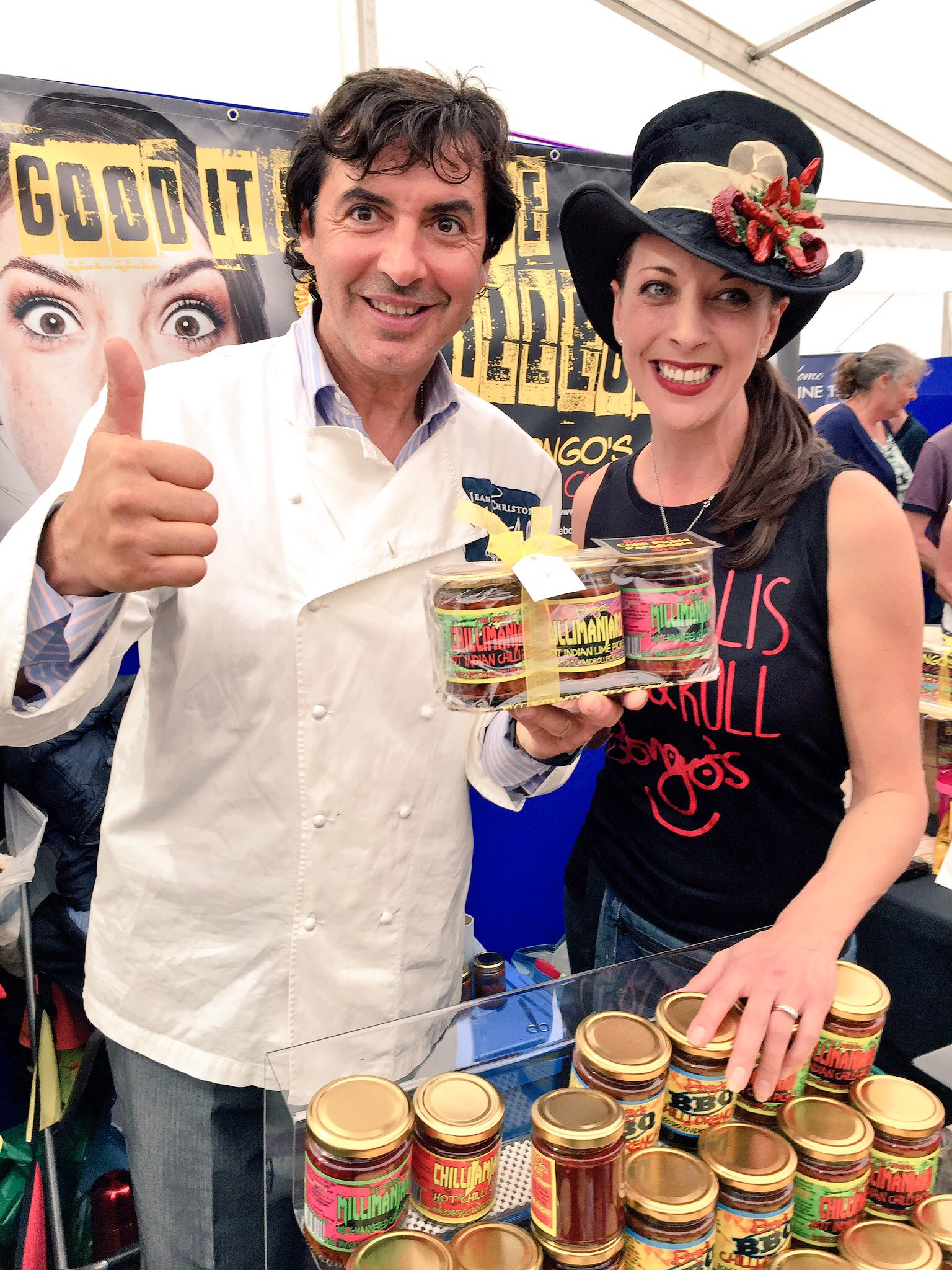 Jean Christophe Novelli with Bongo's Rock and Roll Chilli Pickles
