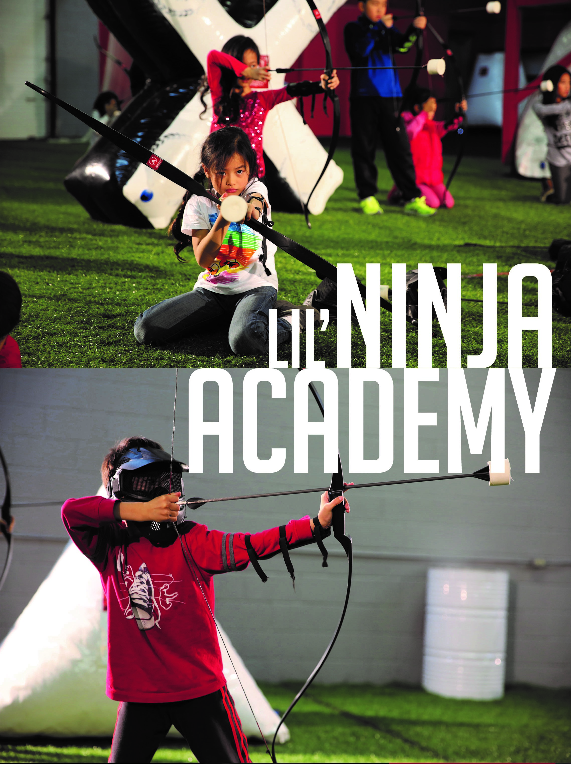 archery tag ninja academy kids camp