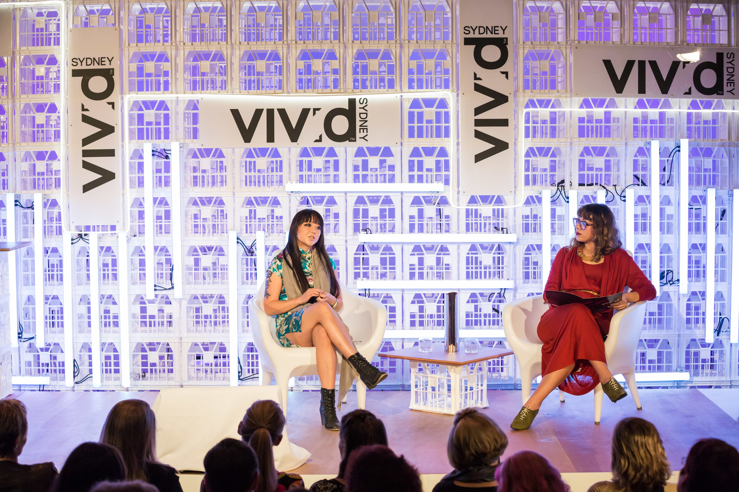 Candy Chang and Jess Scully at Vivid Ideas 2014. Photography by Daniel Boud.