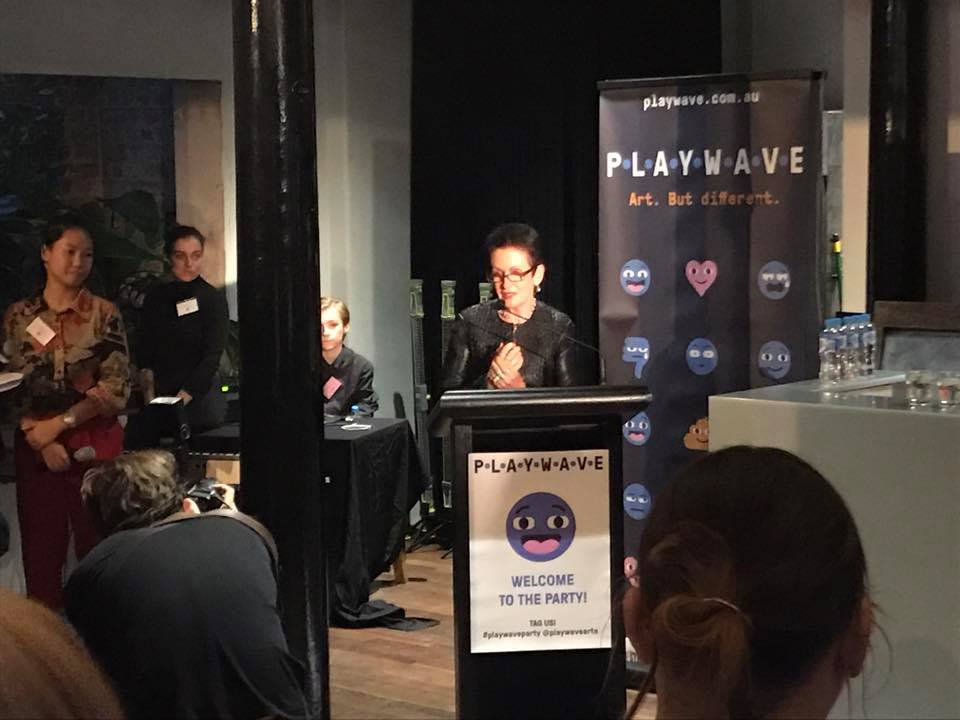 Lord Mayor Clover Moore at the launch of Playwave at the Eternity Playhouse