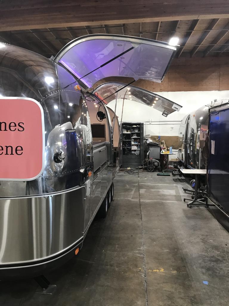 Custom Airstream tasting room