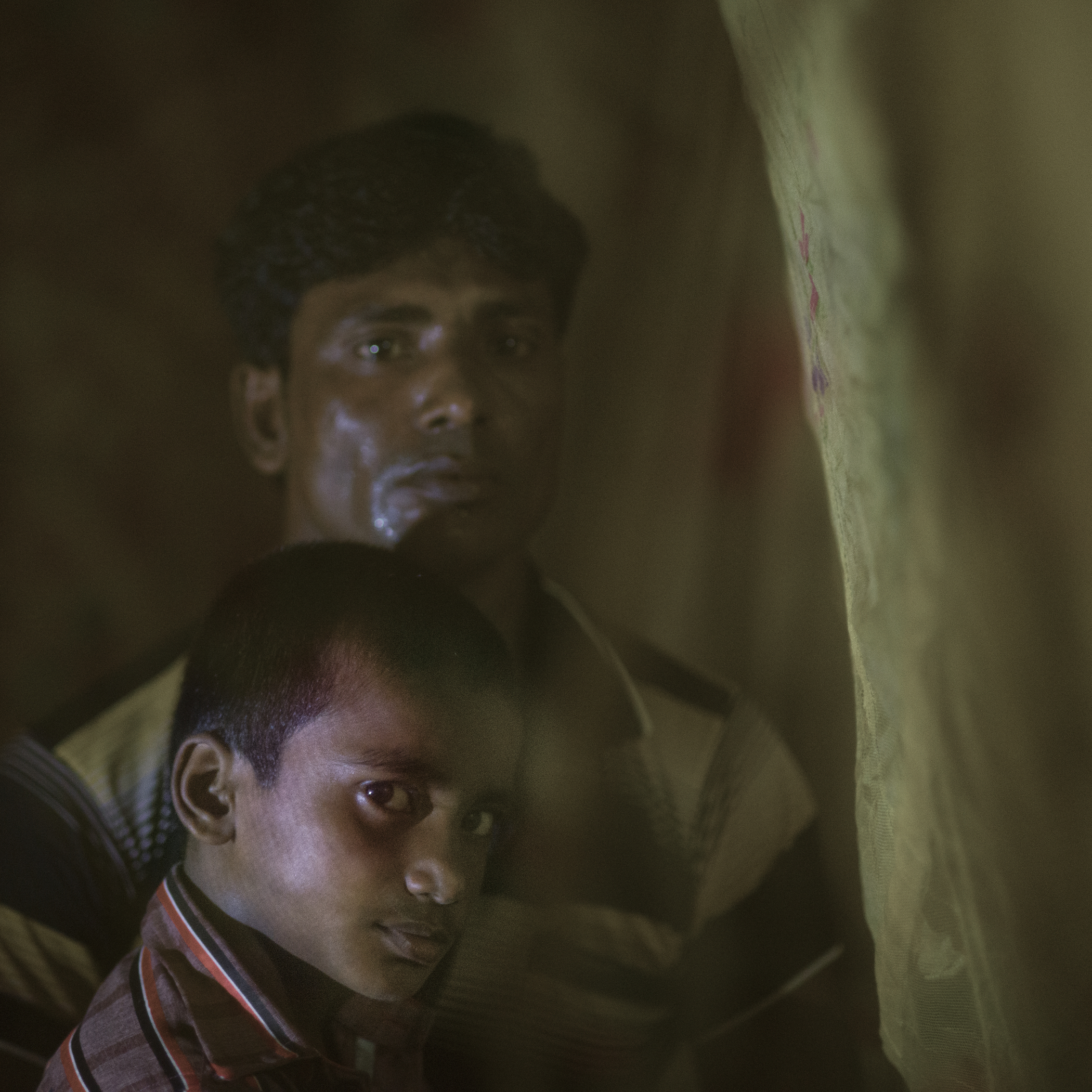Abdul Alim with his son Kurban Hossain is fighting for the new day