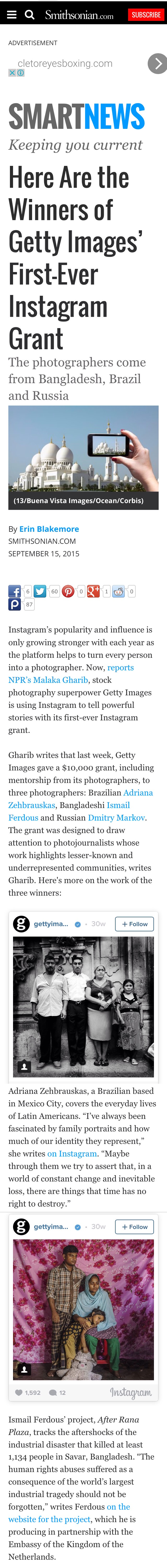 Here Are the Winners of Getty Images' First-Ever Instagram Grant