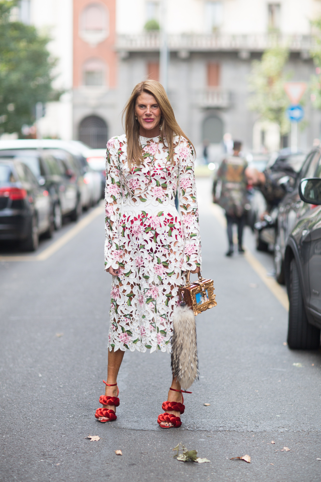 Anna Dello Russo, Street Style Milan Fashion Week