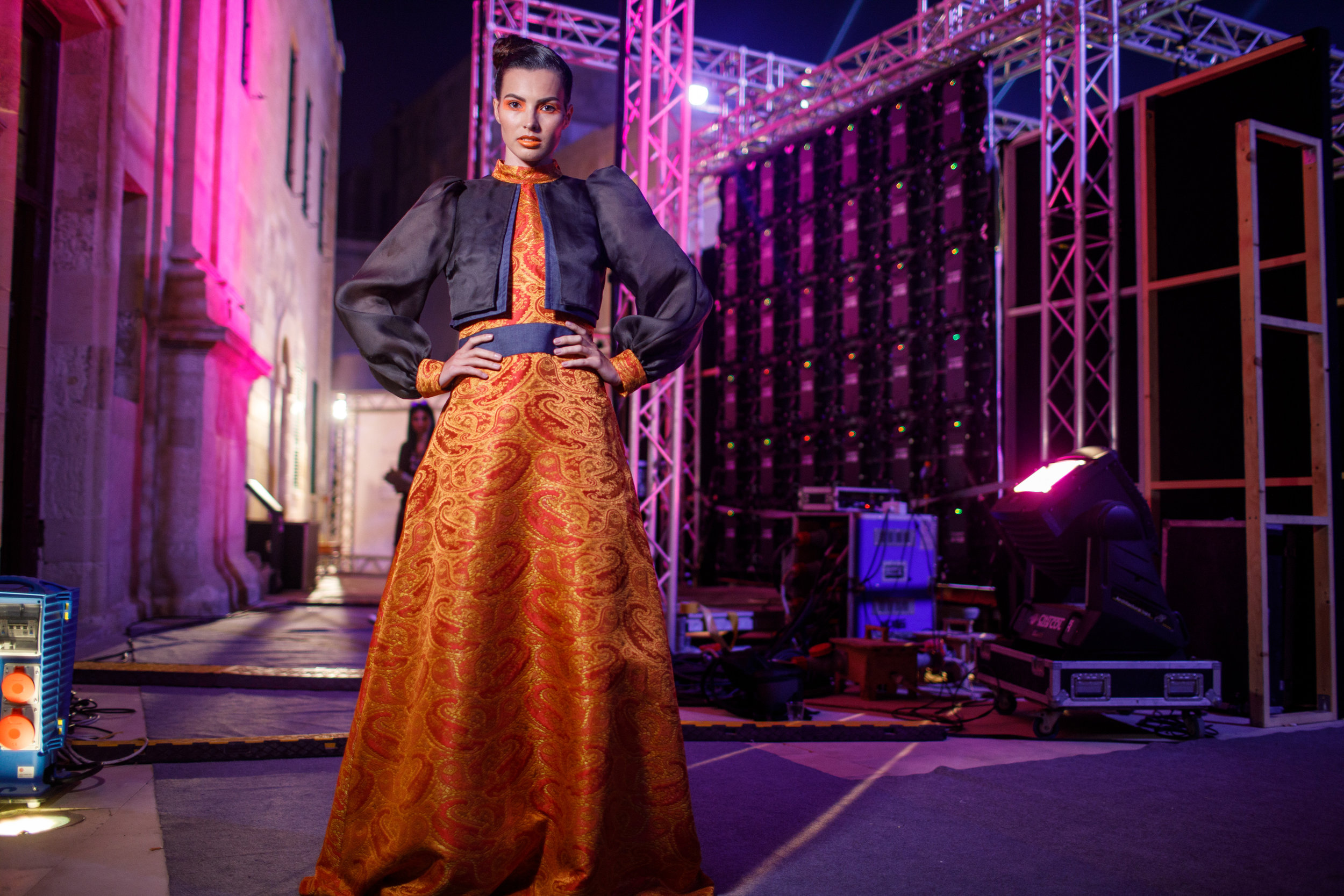Rosemarie Abela -Backstage, Malta Fashion Week