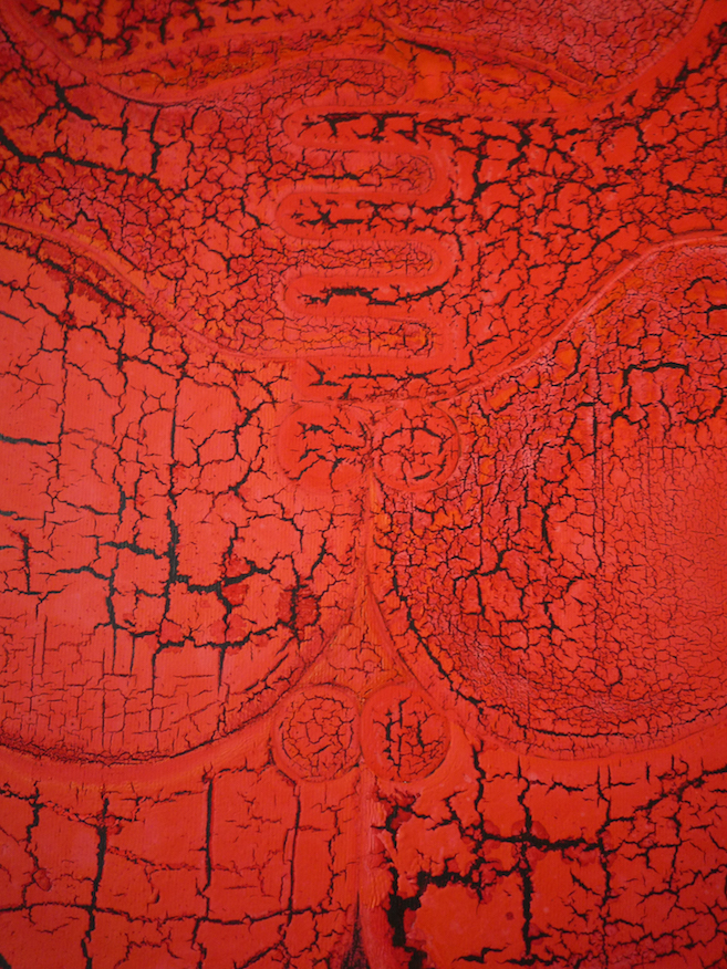 Detail from Red Sumos (2010)