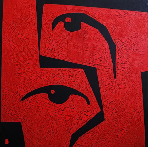 Acrylics on canvas  90x90