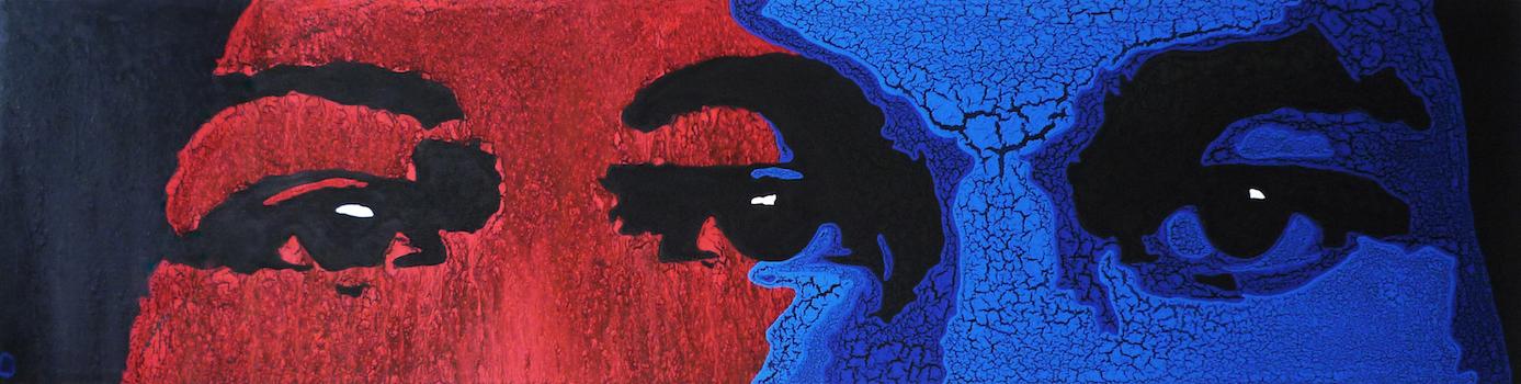 Couple in love, 2010, Acrylic on canvas, 220x55.jpg