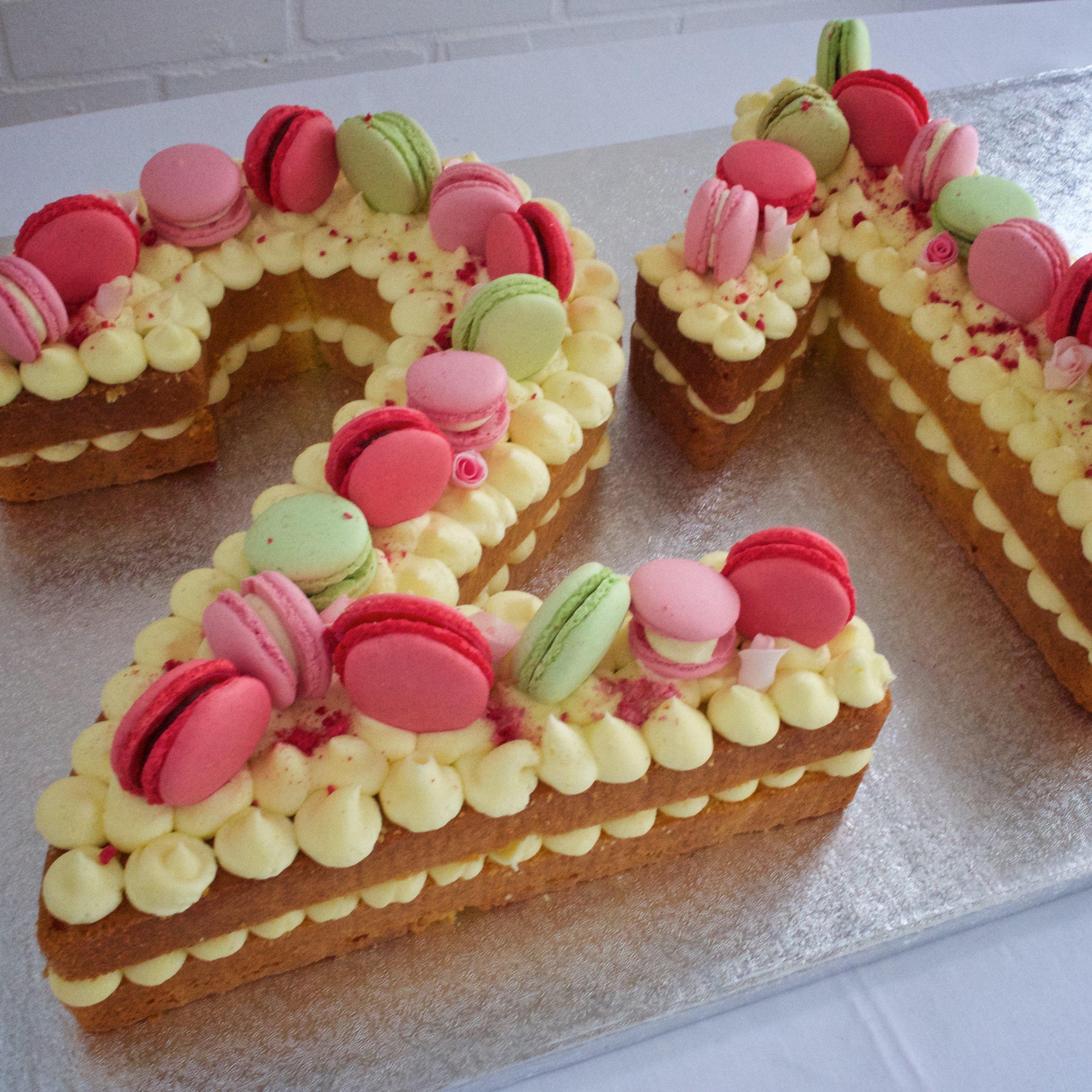 Lemon Number Cake    From £80.00