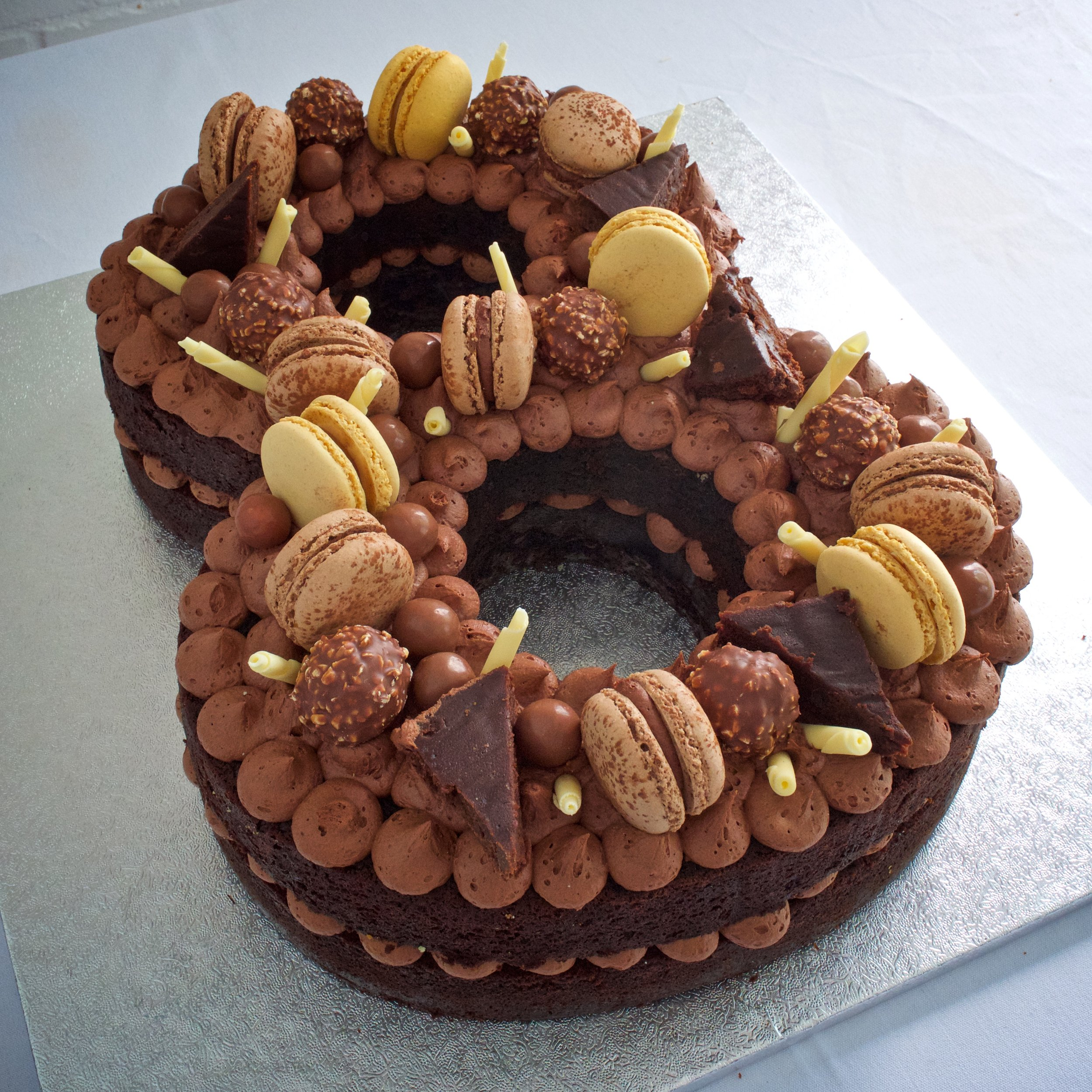 Chocolate Number Cake    From £80.00