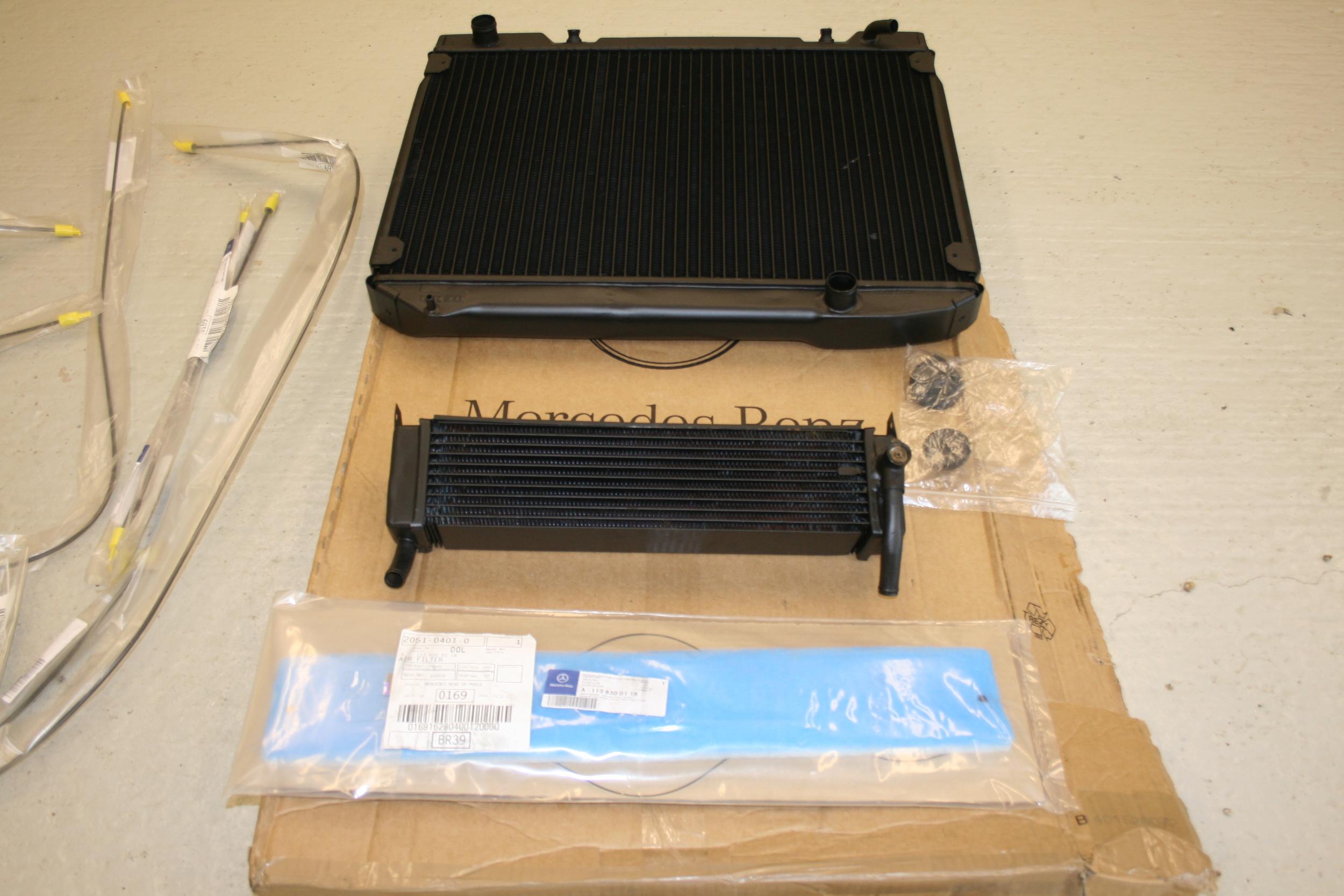 new radiator  heater matrix and airscoop dust filter