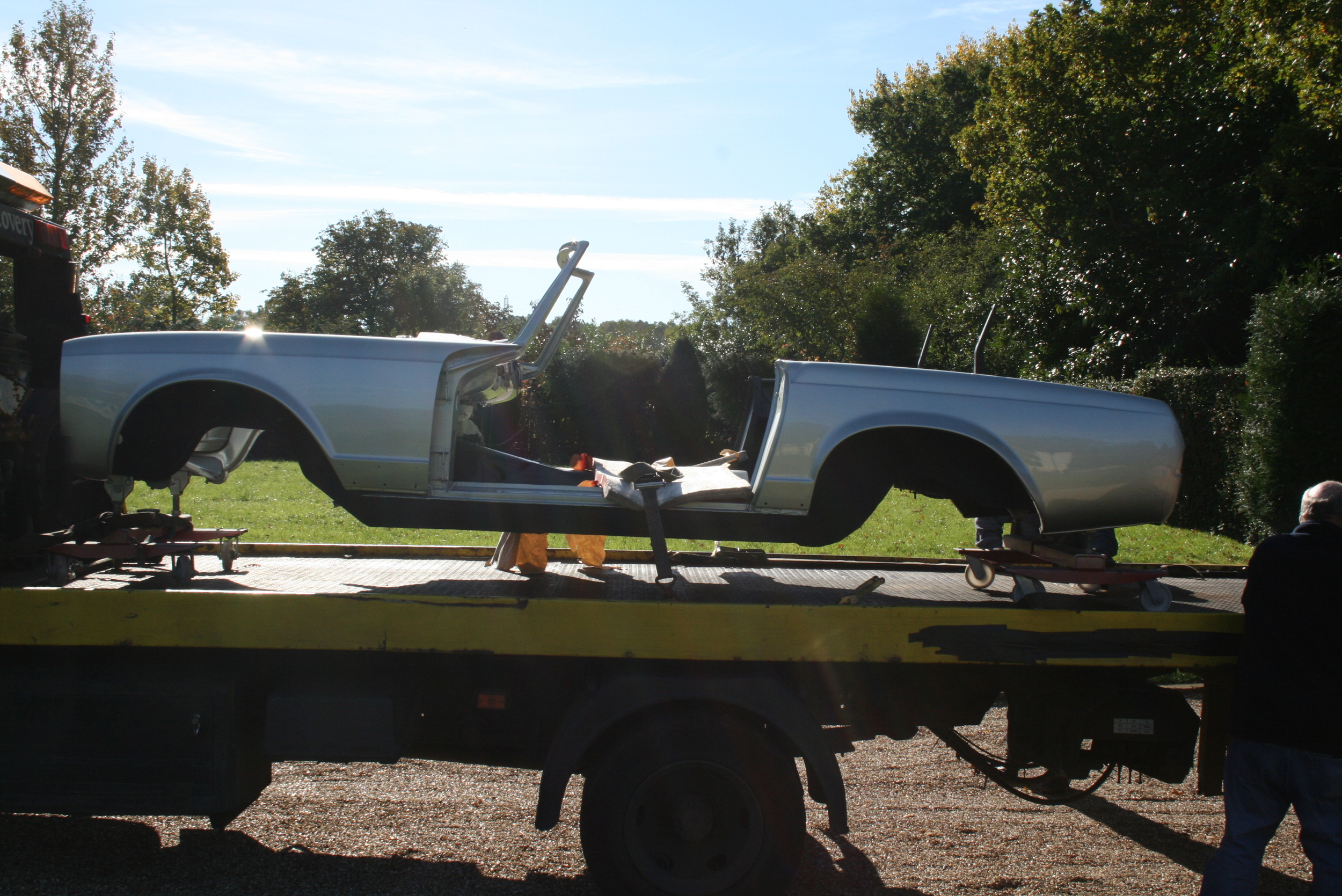 at last - shell arrives back from paint