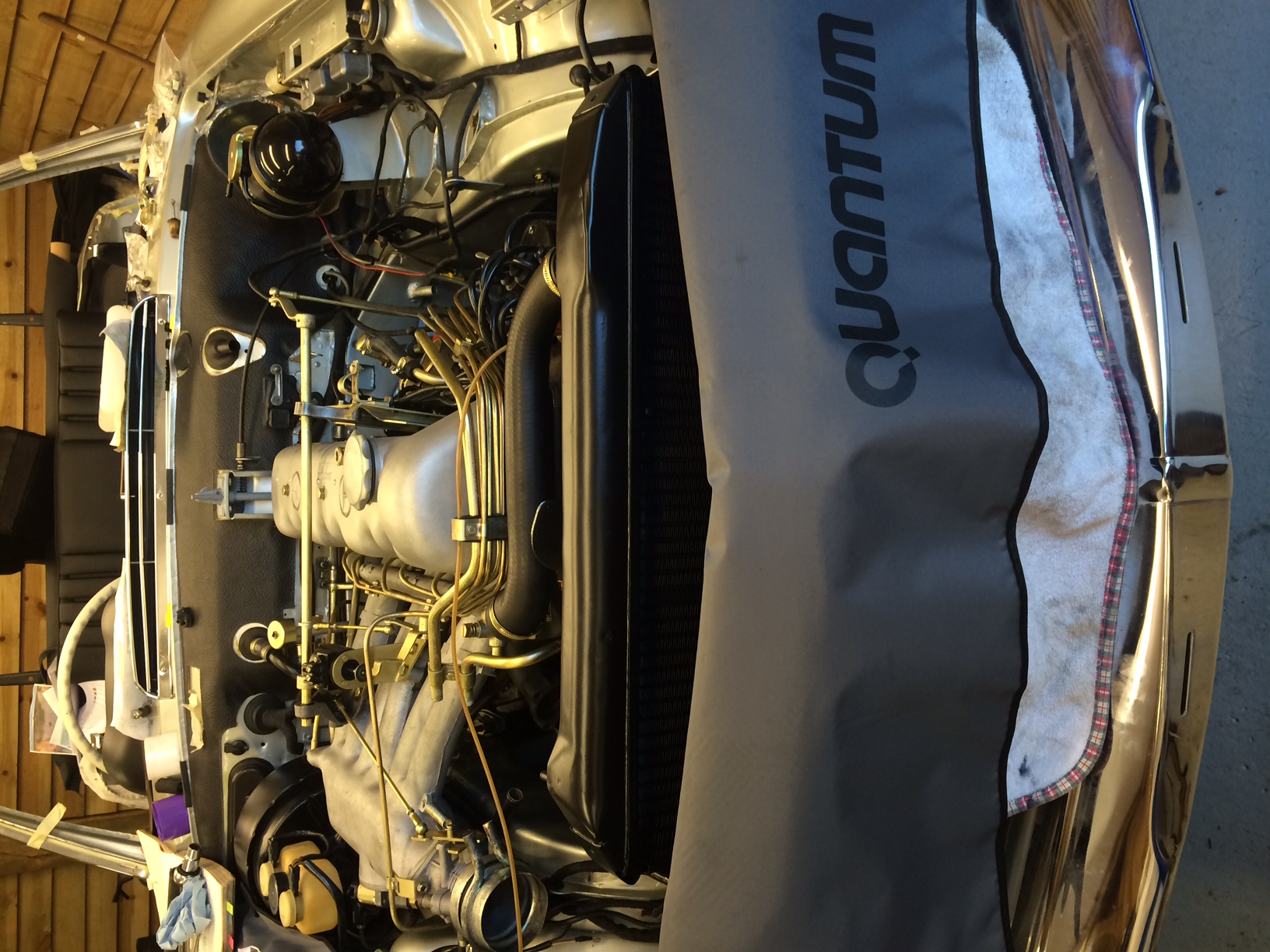 rocker cover and radiator and inlet manifold refitted..
