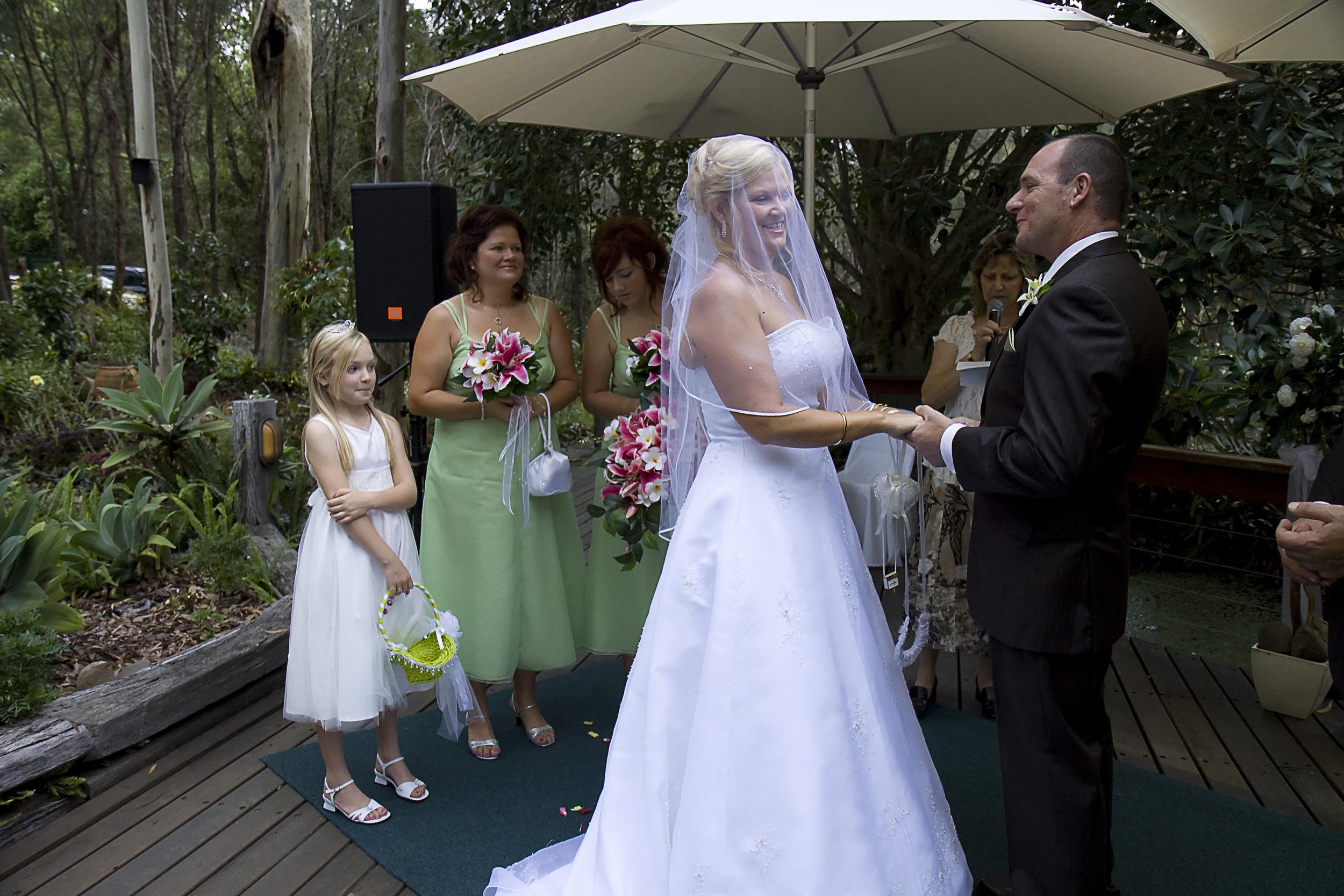 Wedding ceremony at Macarthur Park, Alexandra Hills
