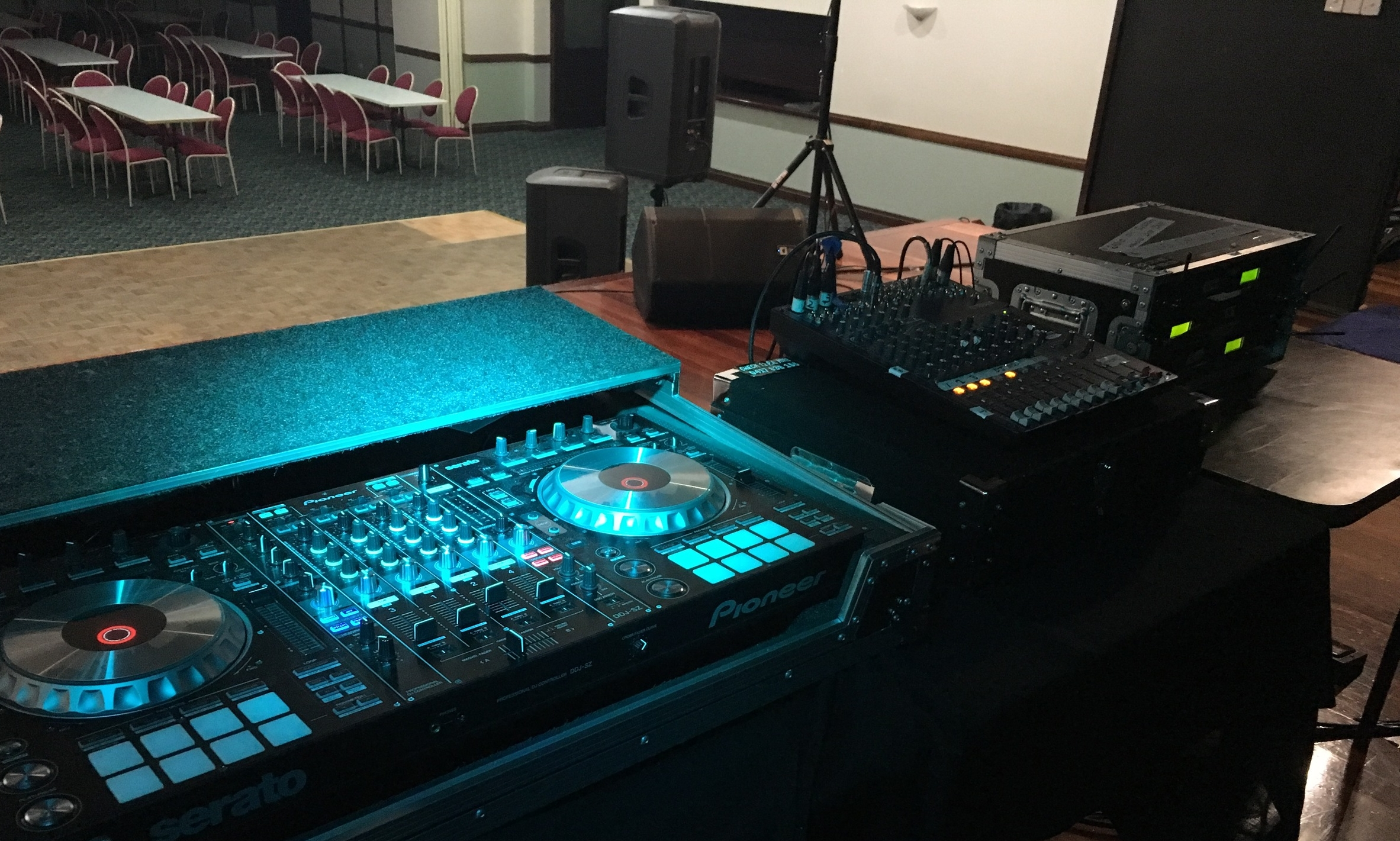 Our Pro DJ System - DJs just BYO desk!