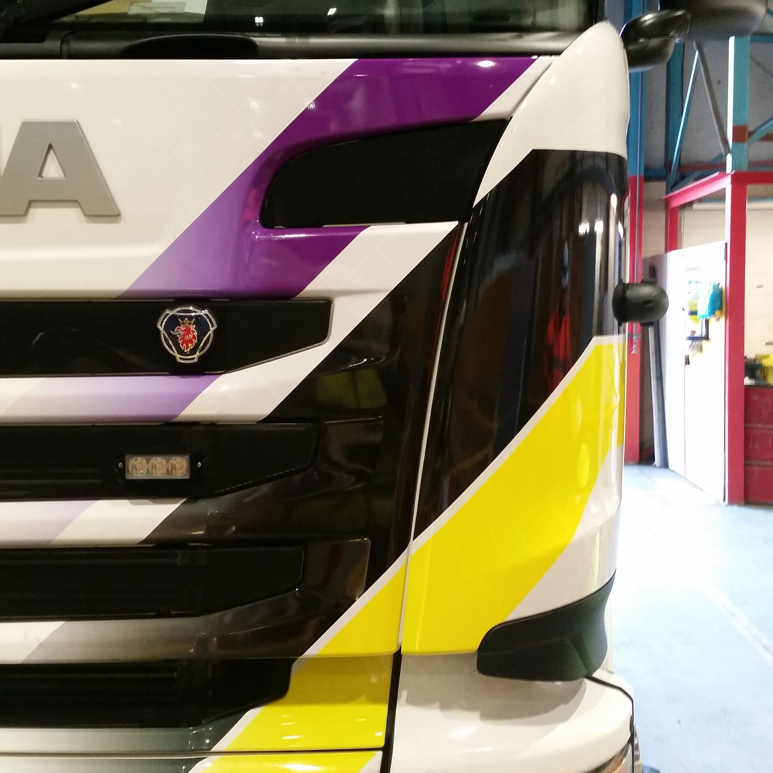 3M Printed Wrap Vinyl Fitted to a Scania Lorry