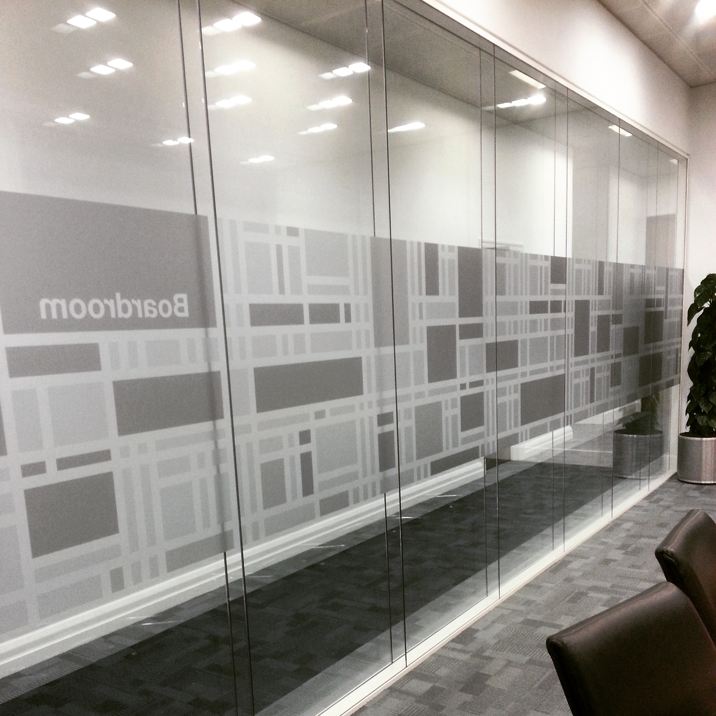 Office Boardroom Manifestation - Cut Frosted vinyl