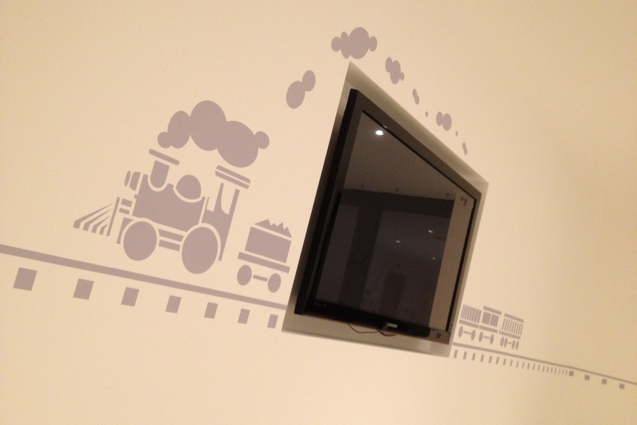 Bespoke wall graphics for a kids playroom