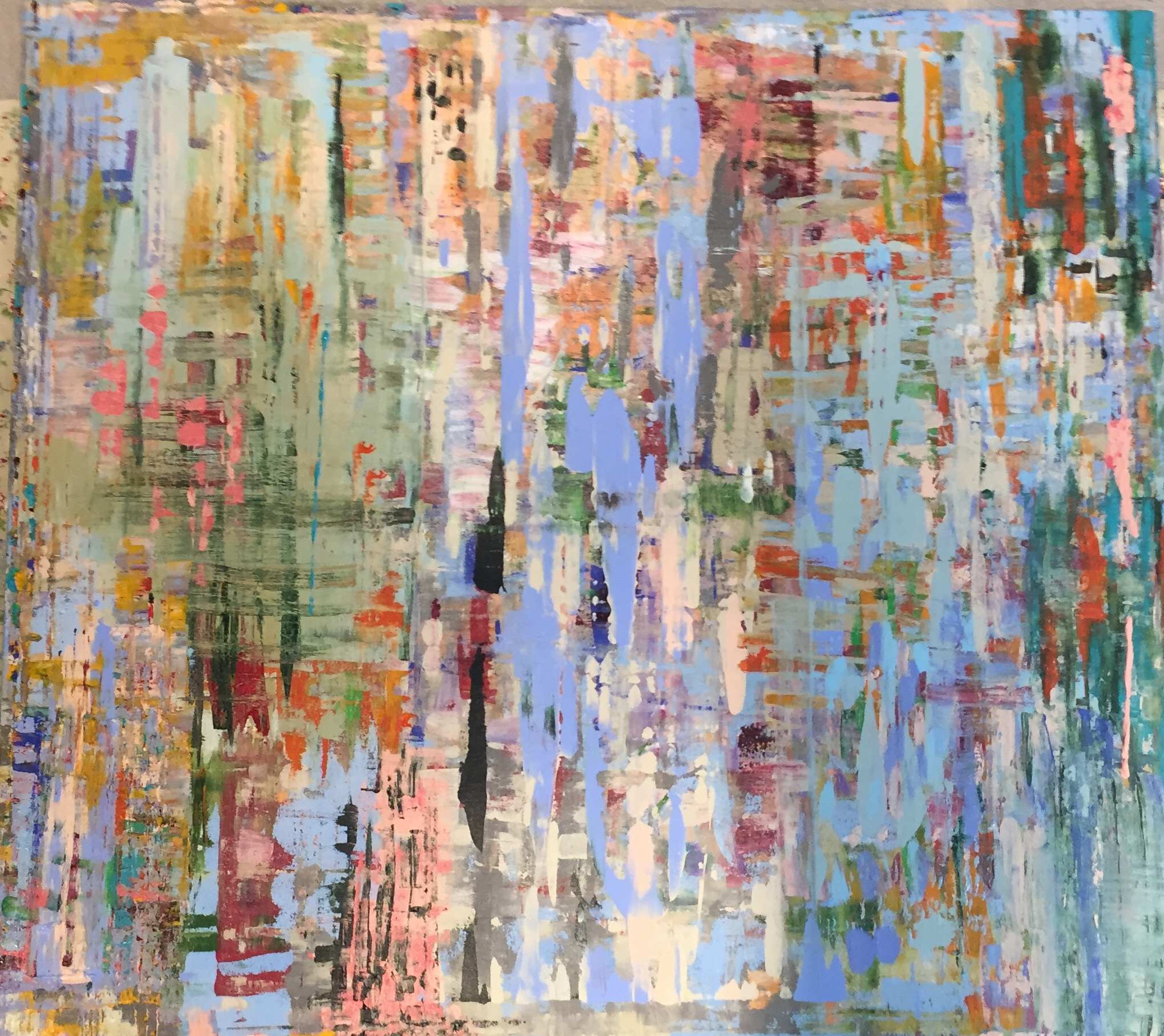 Born Again 2016 Acrylic on Canvas 150x130 cms