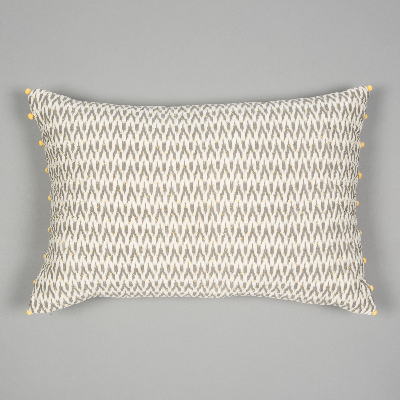 Grey & Ecru Ikat Cushion  £55.00
