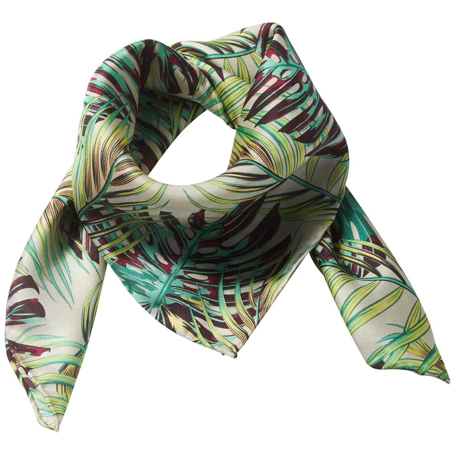 Palm Leaf 100% Silk Scarf  £42.00