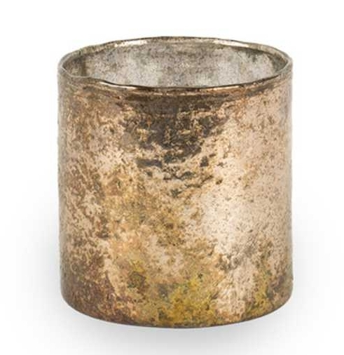 Medium Glass Votive Copper  £5.95