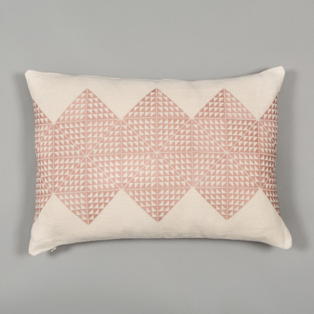 Cream & Pink Feather Filled Cushion  £115