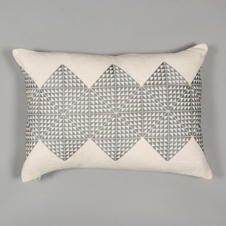 Cream & Grey Feather Filled Cushion  £115