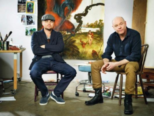 Leonardo DiCaprio and artist Walton Ford