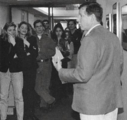 Jock Sturges | Gallery Talk,Ogilvy & Mather Employees, 1997 | Photo: Stratos Magazine