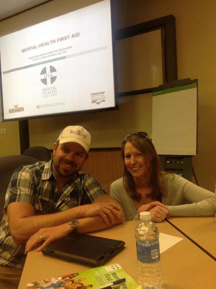 Mike Ruzek & Jana Johnson @ MHFA training  Christina Shiebler photographer