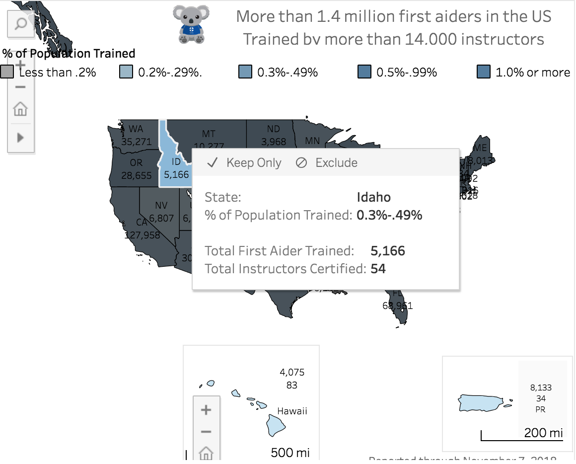 Idaho - December 2018 -  find current data HERE