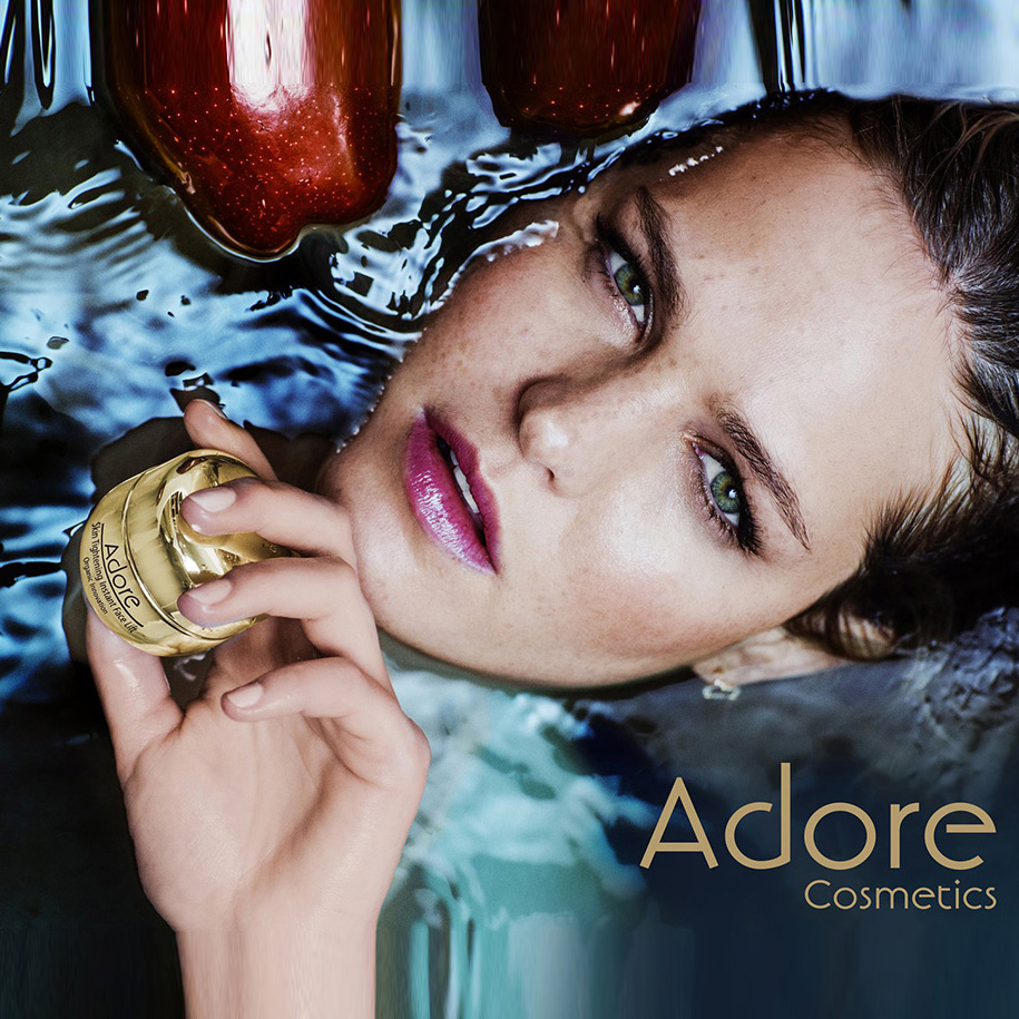 Erin Heatherton x Adore Cosmetics  Photographer: Russell James  Executive Producer/Project Manager: Amy Frances Fraher  Production: IMG Lens/Amy Frances Fraher