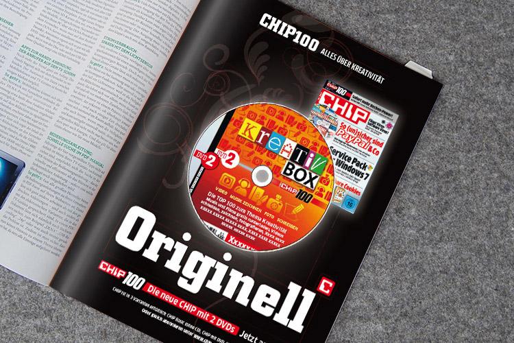 CHIP100, Kreativ Box. Eigenanzeige.