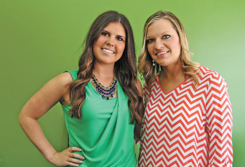 Candidates,  Courtney Kokx and Konnie Vandervelde , compete for the 2015 Asparagus Queen crown.