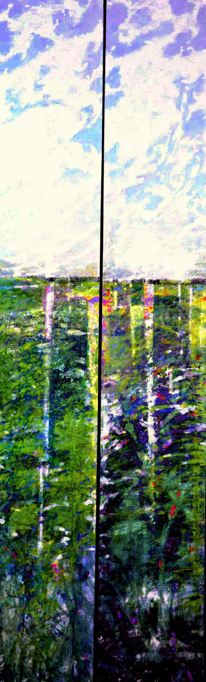 Ground Water Rising; Diptych