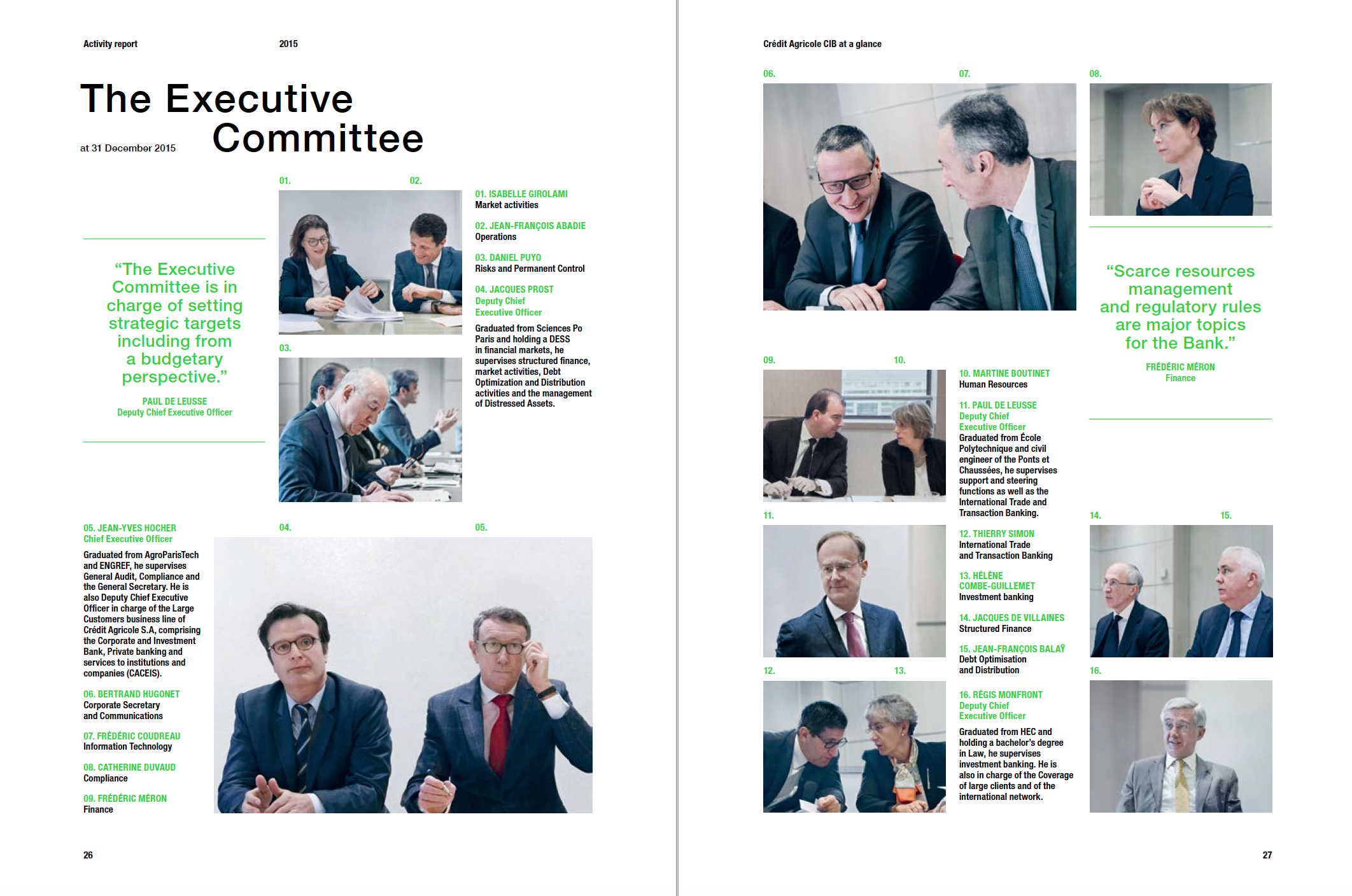 Crédit Agricole Corporate and Investment Bank Activity Report 2015